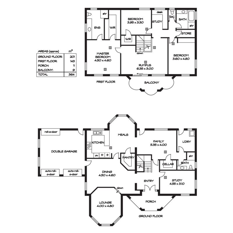 房子两层半设计图图片