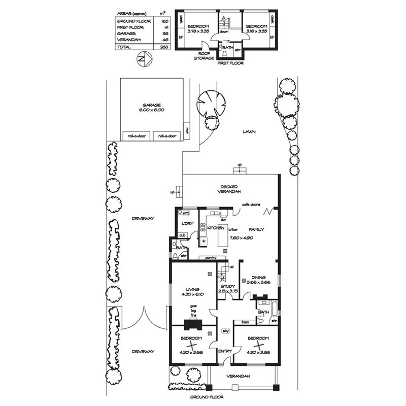 120平方房子平面设计图带楼梯