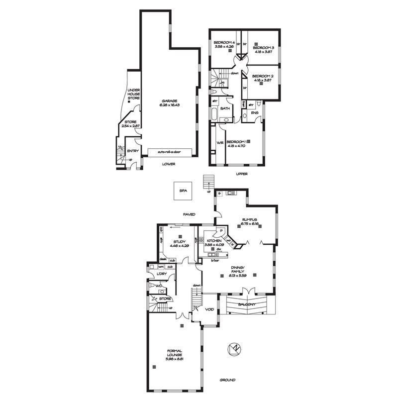 四间屋型设计图