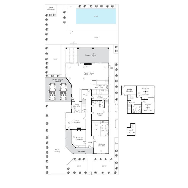 三间房二层别墅设计图