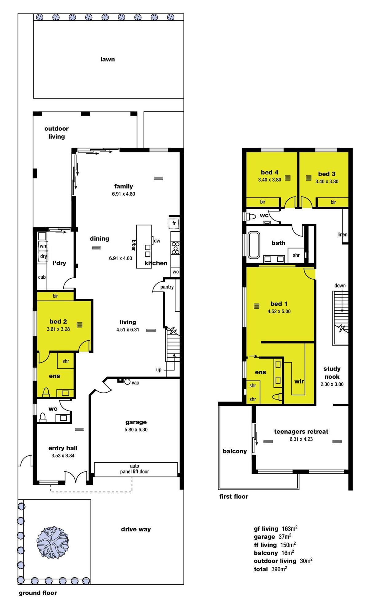 农村房子一层套间平面设计图