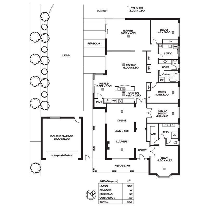 铺面式房子平面设计图展示